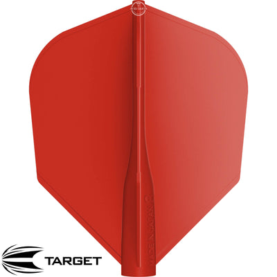 Dart Flights - Target - 8 Flight - Standard Dart Flights Red