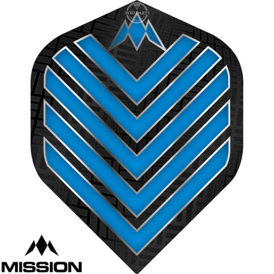 Dart Flights - Mission - Admiral - Big Wing Dart Flights Aqua