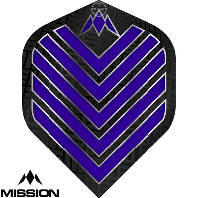 Dart Flights - Mission - Admiral - Big Wing Dart Flights Dark Blue