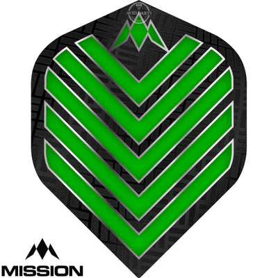 Dart Flights - Mission - Admiral - Big Wing Dart Flights Green