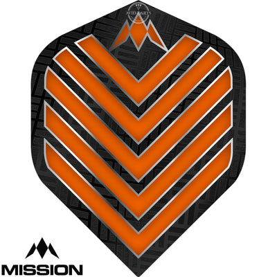 Dart Flights - Mission - Admiral - Big Wing Dart Flights Orange