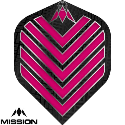 Dart Flights - Mission - Admiral - Big Wing Dart Flights Pink