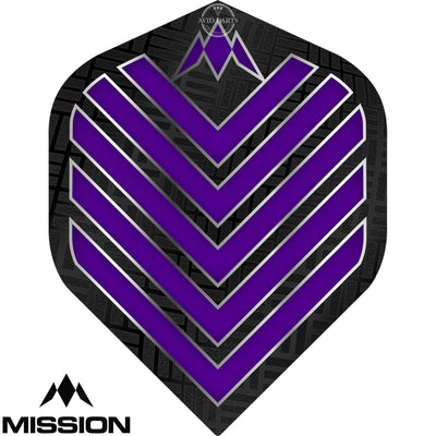 Dart Flights - Mission - Admiral - Big Wing Dart Flights Purple
