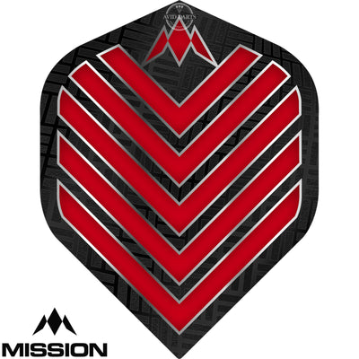 Dart Flights - Mission - Admiral - Big Wing Dart Flights Red