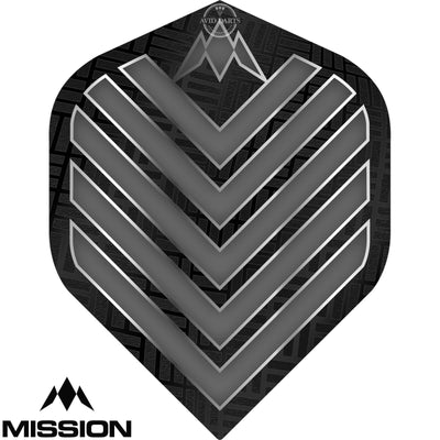 Dart Flights - Mission - Admiral - Big Wing Dart Flights Grey