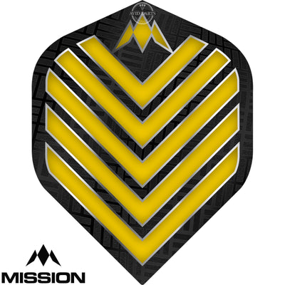 Dart Flights - Mission - Admiral - Big Wing Dart Flights Yellow