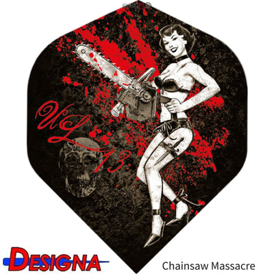 Dart Flights - Designa - Alchemy - Big Wing Dart Flights Chainsaw Massacre