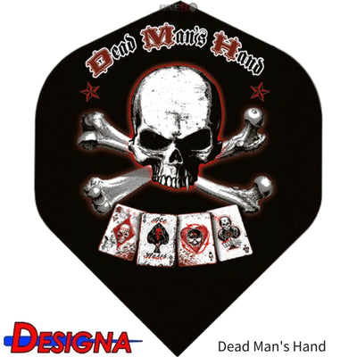 Dart Flights - Designa - Alchemy - Big Wing Dart Flights Dead Man's Hand