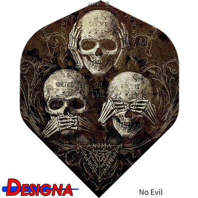 Dart Flights - Designa - Alchemy - Big Wing Dart Flights No Evil