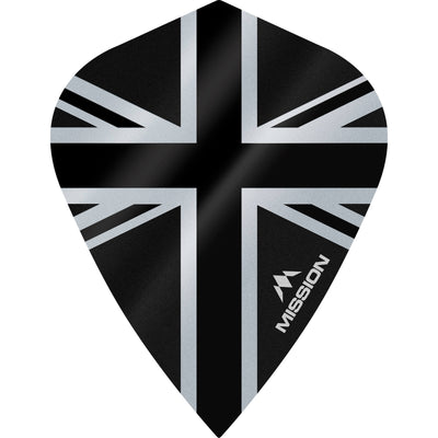 Dart Flights - Mission - Alliance - Kite Dart Flights Black