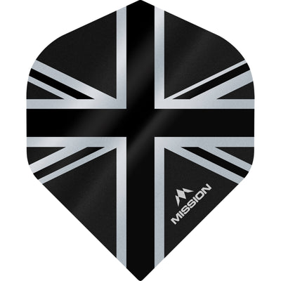 Dart Flights - Mission - Alliance - Big Wing Dart Flights Black