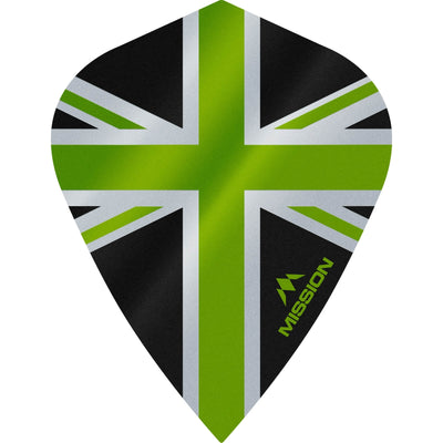 Dart Flights - Mission - Alliance - Kite Dart Flights Green