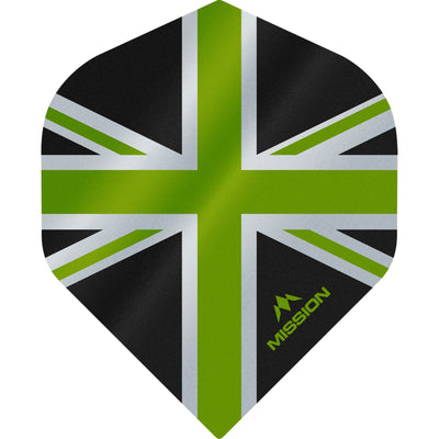 Dart Flights - Mission - Alliance - Big Wing Dart Flights Green