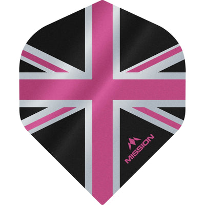Dart Flights - Mission - Alliance - Big Wing Dart Flights Pink