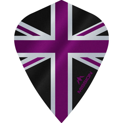 Dart Flights - Mission - Alliance - Kite Dart Flights Purple