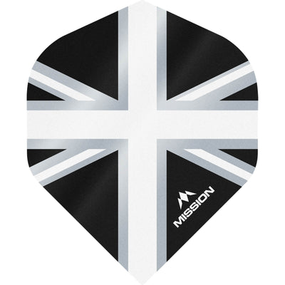 Dart Flights - Mission - Alliance - Big Wing Dart Flights White