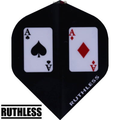 Dart Flights - Ruthless - Assorted - Big Wing Dart Flights Aces