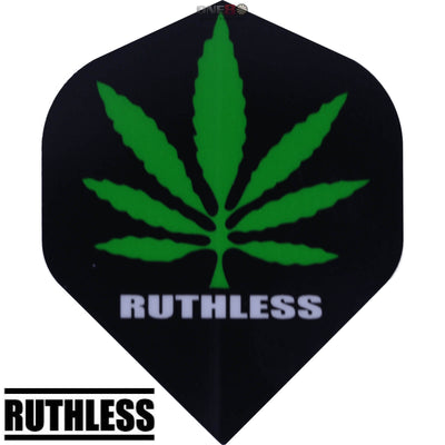 Dart Flights - Ruthless - Assorted - Big Wing Dart Flights Black Green Leaf