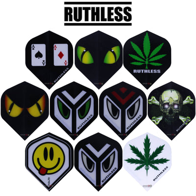 Dart Flights - Ruthless - Assorted - Big Wing Dart Flights