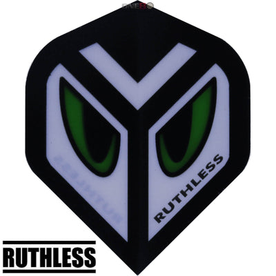 Dart Flights - Ruthless - Assorted - Big Wing Dart Flights Green Eyes
