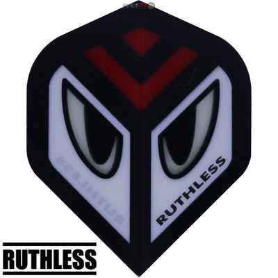 Dart Flights - Ruthless - Assorted - Big Wing Dart Flights Red Eyes
