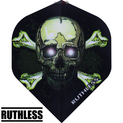 Dart Flights - Ruthless - Assorted - Big Wing Dart Flights Skull X Bones