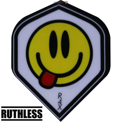 Dart Flights - Ruthless - Assorted - Big Wing Dart Flights Smiley Face