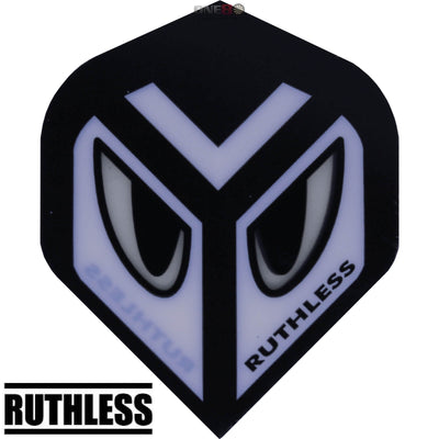 Dart Flights - Ruthless - Assorted - Big Wing Dart Flights White Eyes