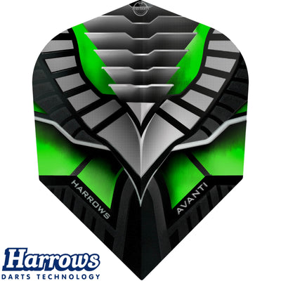 Dart Flights - Harrows - Avanti - Standard Dart Flights Green