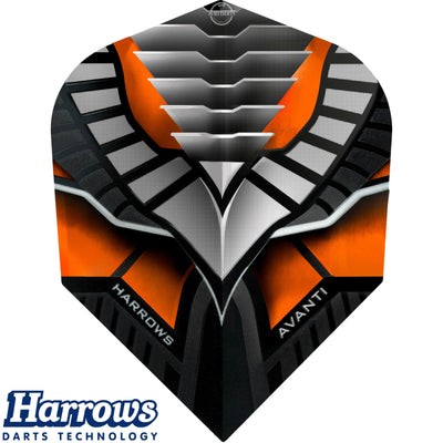 Dart Flights - Harrows - Avanti - Standard Dart Flights Orange