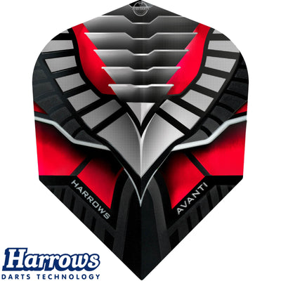 Dart Flights - Harrows - Avanti - Standard Dart Flights Red
