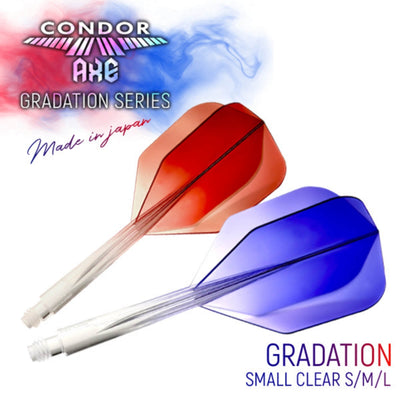 Dart Flights - Condor - Axe Gradient Small - Standard Dart Flights - Integrated Flight & Shaft System