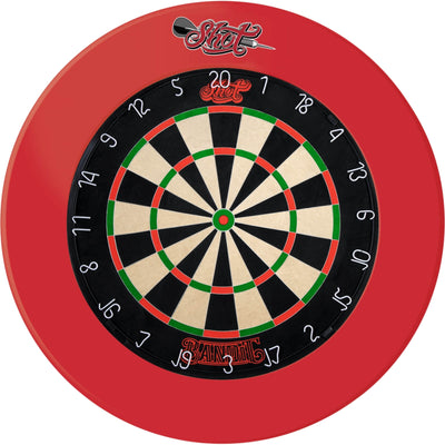 Dartboards - Shot - Bandit Dartboard & Surround Package Red