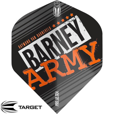 Dart Flights - Target - Raymond Van Barneveld Barney Army - Big Wing Dart Flights Black