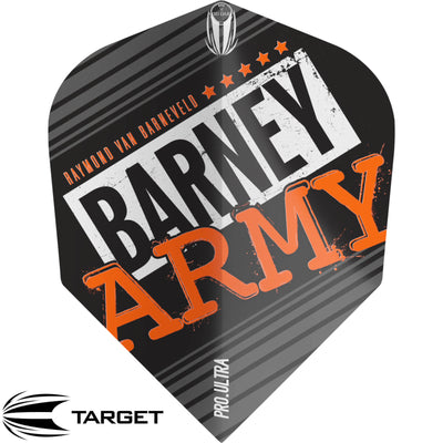 Dart Flights - Target - Raymond Van Barneveld Barney Army - Ten-X Dart Flights Black