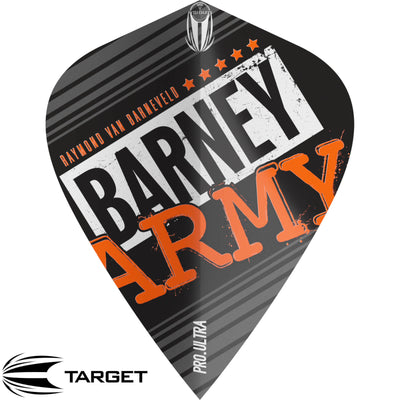 Dart Flights - Target - Raymond Van Barneveld Barney Army - Kite Dart Flights Black