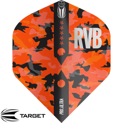 Dart Flights - Target - Raymond Van Barneveld Barney Army - Big Wing Dart Flights Camo