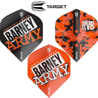 Dart Flights - Target - Raymond Van Barneveld Barney Army - Big Wing Dart Flights