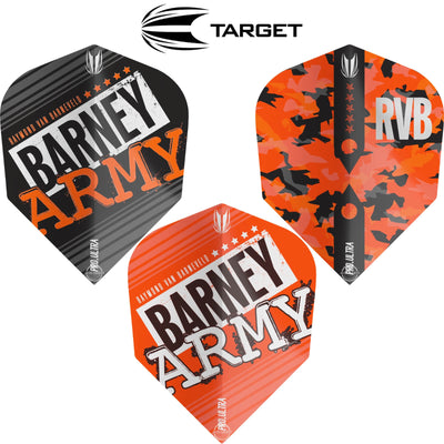 Dart Flights - Target - Raymond Van Barneveld Barney Army - Ten-X Dart Flights