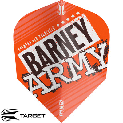 Dart Flights - Target - Raymond Van Barneveld Barney Army - Ten-X Dart Flights Orange