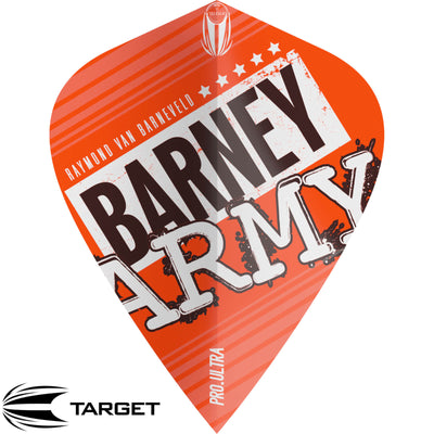 Dart Flights - Target - Raymond Van Barneveld Barney Army - Kite Dart Flights Orange