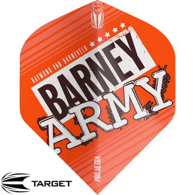 Dart Flights - Target - Raymond Van Barneveld Barney Army - Big Wing Dart Flights Orange