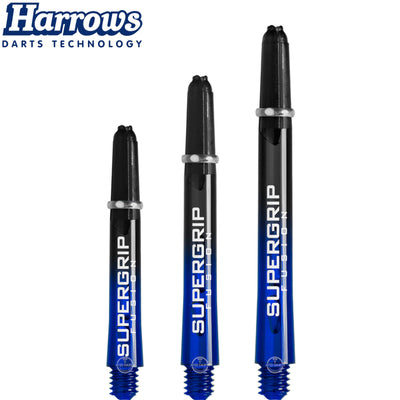 HARROWS Darts - Shafts - Supergrip Fusion-X Shafts - Short (35mm) / Blue