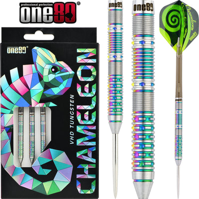Darts - One80 - Chameleon Azurite Darts - Steel Tip - 90% Tungsten - 22g 24g