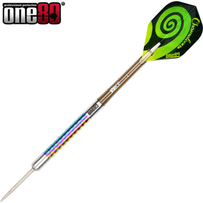 Darts - One80 - Chameleon Jade Darts - Steel Tip - 90% Tungsten - 22g 24g