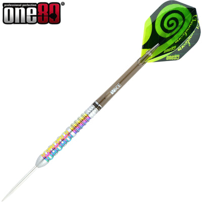Darts - One80 - Chameleon Zircon Darts - Steel Tip - 90% Tungsten - 22g 24g
