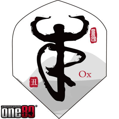 Dart Flights - One80 - Chinese Zodiac - Big Wing Dart Flights Ox