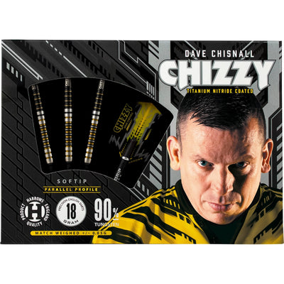 Darts - Harrows - Chizzy - Dave Chisnall Darts - Soft Tip - 90% Tungsten - 18g 20g 22g