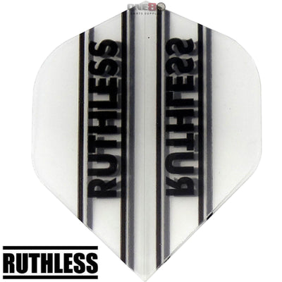Dart Flights - Ruthless - Clear Panels - Big Wing Dart Flights Clear