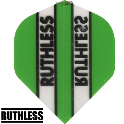 Dart Flights - Ruthless - Clear Panels - Big Wing Dart Flights Green